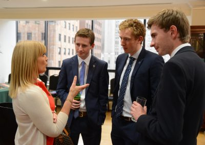 Networking at the Irish Consulate